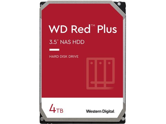 Wd Red Plus 4tb Nas Hard Disk Drive 5400 Rpm Class Sata 6gb S Cmr 64mb Cache 3 5 Inch Wd40efrx Newegg Com