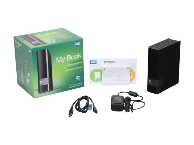 WD 2TB My Book Desktop External Hard Drive - USB 3 0 - WDBFJK0020HBK-NESN -  Newegg com