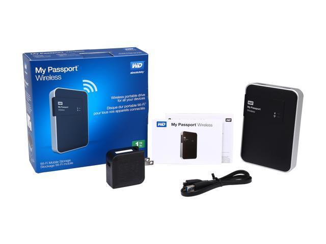 WD 1TB My Passport Wireless Portable External Hard Drive - WIFI USB 3 0 -  WDBK8Z0010BBK-NESN - Newegg com
