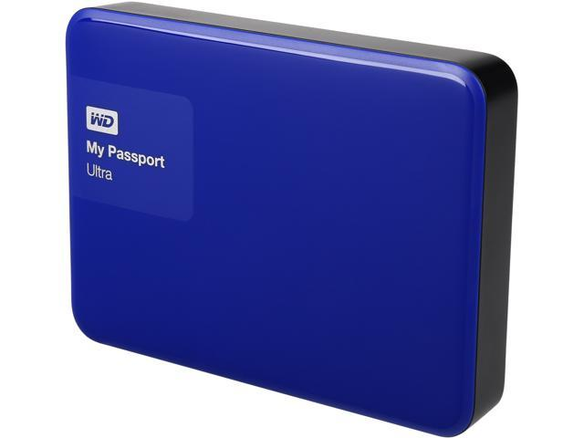 WD 3TB Blue My Passport Ultra Portable External Hard Drive - USB 3 0 -  WDBBKD0030BBL-NESN - Newegg com