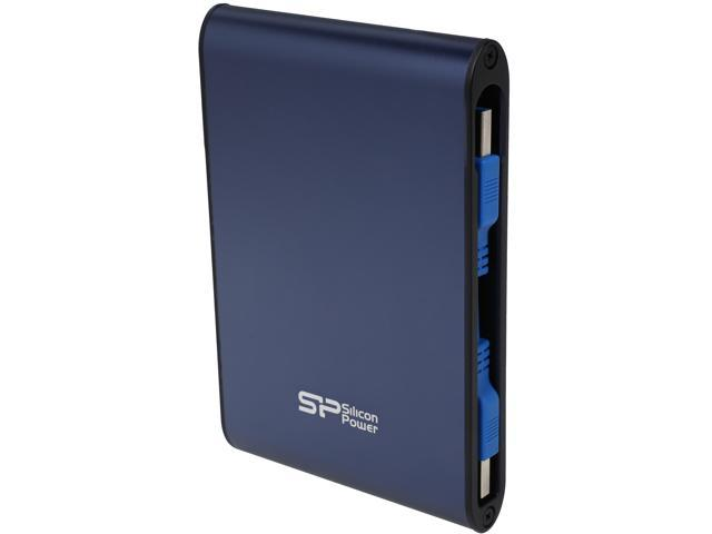 7c77a7839a03 Silicon Power 2TB Armor A80 Portable Hard Drive USB 3.0 Model  SP020TBPHDA80S3B Blue - Newegg.com