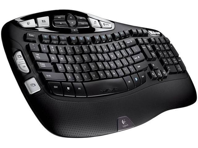 dd1ea39a243 Logitech K350 2.4GHz Wireless Ergonomic Keyboard - Black ...
