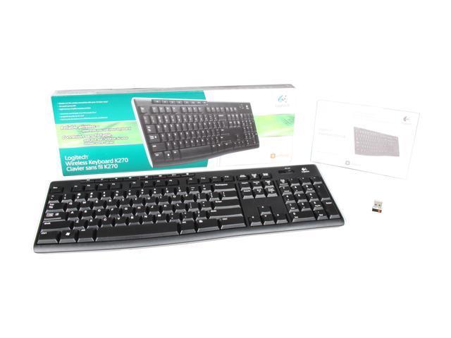 Logitech K270 2 4GHz Wireless Keyboard - Black - Newegg com