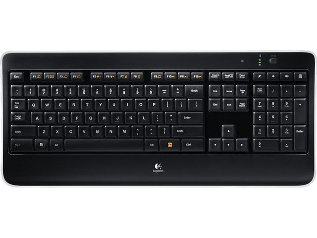 Logitech K360 920-004090 Glossy Black (French Canadian Layout) USB 2.0 RF  Wireless 0fd284c1ce692