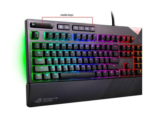 ASUS ROG Strix Flare RGB Mechanical Gaming Keyboard with Aura Sync - Cherry  MX Red - Newegg com