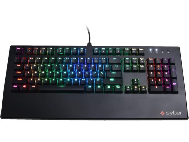 ab4f366eaf8 CyberPowerPC Syber SK100 RGB Mechanical Gaming Keyboard ...