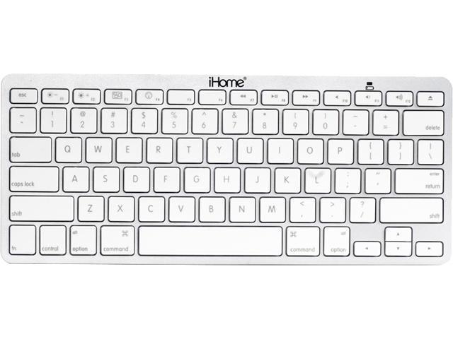 1c620bba437 iHome IMAC-K111S Silver Bluetooth Wireless Keyboard - Newegg.com