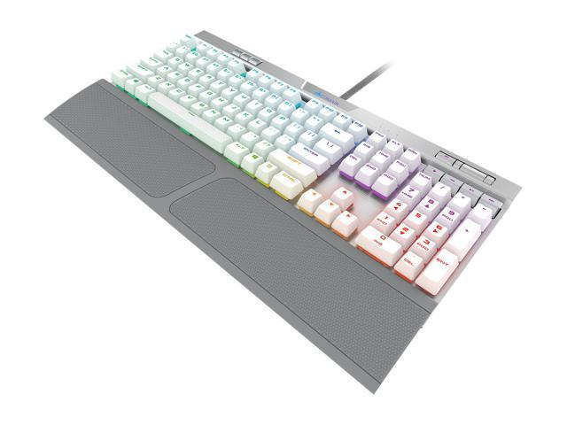 Corsair K70 RGB MK 2 SE Cherry MX Speed Mechanical Gaming Keyboard with RGB  LED Backlit and White PBT Keycaps - CH-9109114-NA