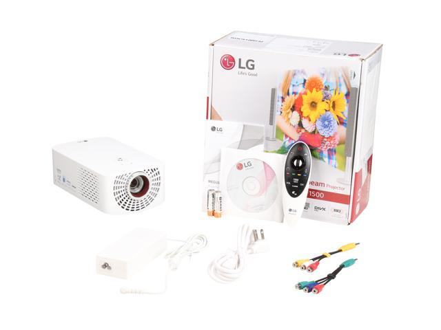 LG Minibeam PF1500 1920 x 1080 FHD 1400 Lumens, Smart TV,  Bluetooth-capable, HDMI / MHL / RJ45 (Networkable), Home Theater LED Pico /  Portable