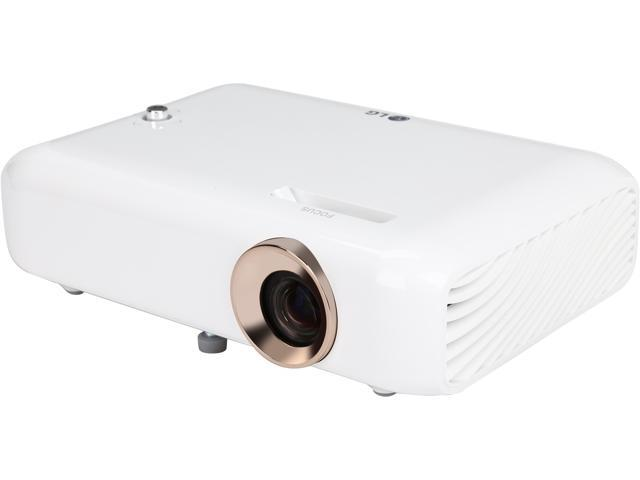 LG PH550 Minibeam LED Pico / Portable Projector with Built-in Battery and Screen Share 1280 x 720 up to 550 Lumen DLP 100,000:1 Bluetooth (with Speaker) MHL