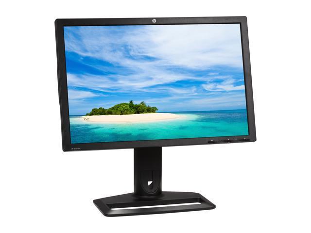 "Lot of 2X Compaq HP LA2405x 24/"" Widescreen LED LCD Monitors W// DisplayPort+Power"