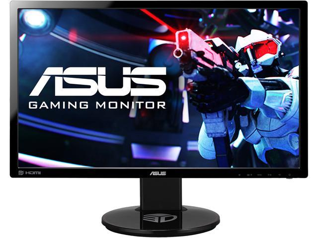"ASUS VG248QE 24"" Full HD 1920 x 1080 1ms (GTG) 144Hz DVI-D HDMI DisplayPort Built-in Speakers Asus Eye Care with Ultra Low-Blue Light & Flicker-Free Backlit LED NVIDIA 3D Gaming Monitor"