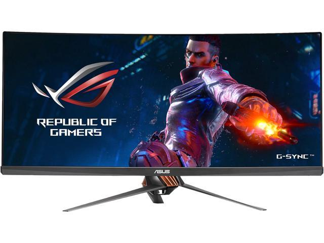 "ASUS ROG Swift PG348Q 34"" Ultra WQHD 3440 x 1440 100Hz Curved IPS G-Sync Asus Eye Care with Ultra Low-Blue Light & Flicker-Free Gaming Monitor with Speakers Tilt Swift Height-Adjustable VESA Mount"