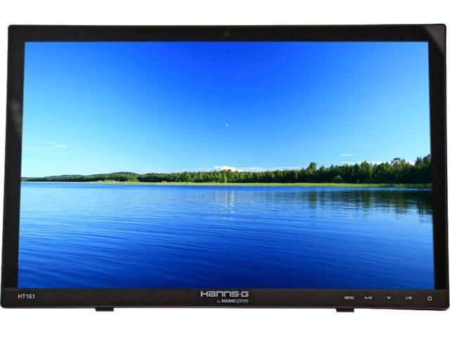 Black HANNspree HT161HNB 15.6-Inch Multi-Touch Screen HDMI Hard Glass Monitor