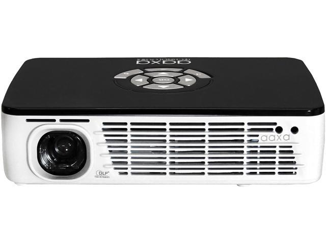 ff303eec2a57 AAXA P300 HD LED DLP Mini Portable Pico Projector with 500 LED Lumens,  HDMI, Mini-VGA, and Media Player for Business and Home use