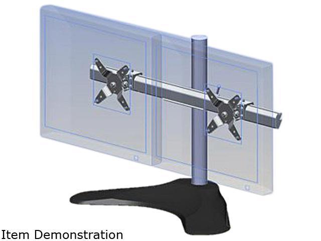 Ergotech 100 D16 B02 Dual Horizontal LCD Monitor Arm Desk Stand