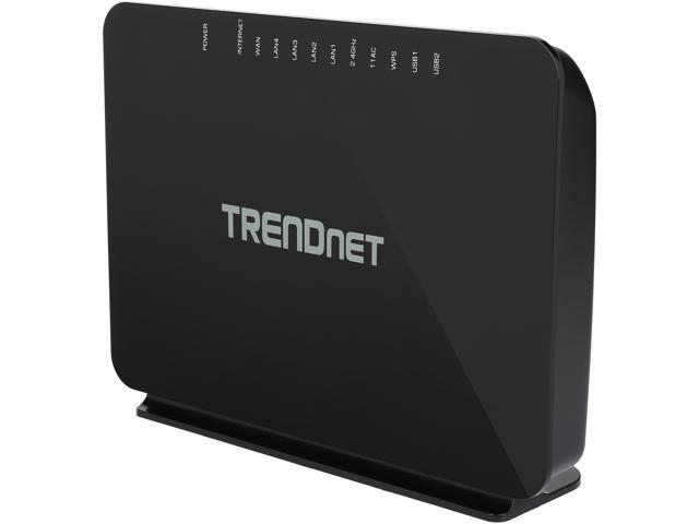 TRENDnet TEW-816DRM AC750 Wireless VDSL2 / ADSL2+ Modem Router - Newegg com