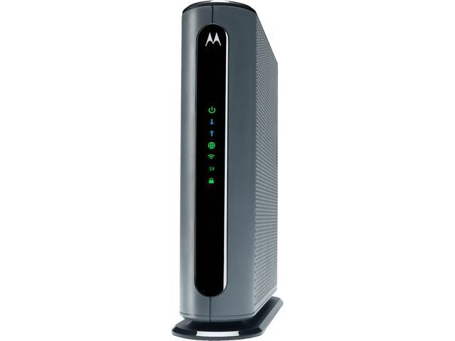 Motorola Mg7700 24x8 Cable Modem Plus Ac1900 Dual Band Wi Fi Gigabit Router With Power Boost Approved By Comcast Xfinity And Cox Newegg Com
