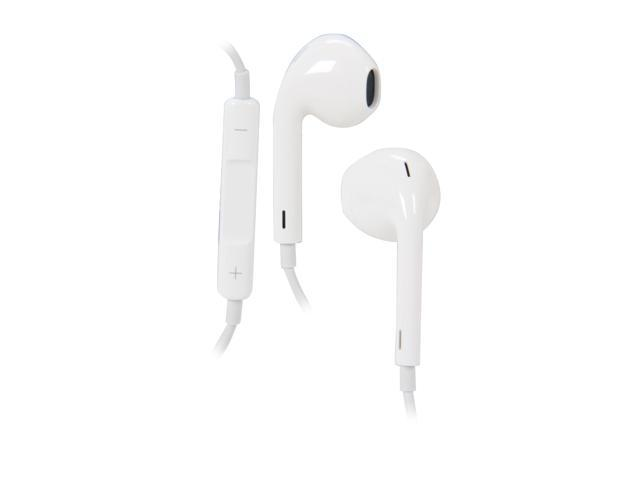NO MIC ™ White Apple Wired Headset for devices with a 3.5mm Headphone Jack