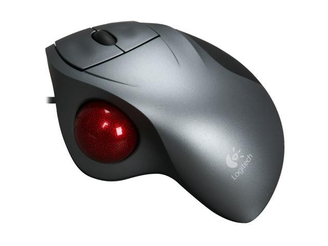 Logitech Gray Wired TrackMan Wheel Mouse