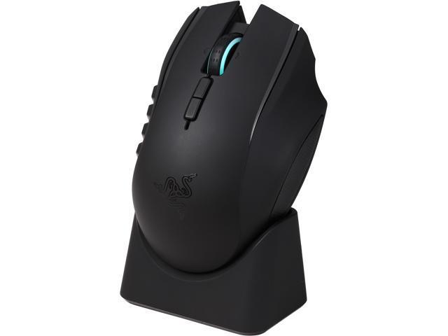 4794953252a RAZER Naga Epic Chroma RZ01-01230100 Black 19 Buttons Tilt Wheel USB Wired  / Wireless Laser 8200 dpi MMO Gaming Mouse