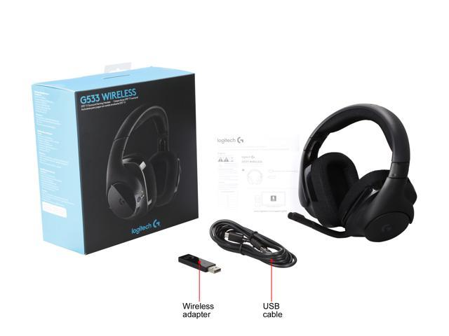 Logitech G533 Wireless DTS 7 1 Surround Sound Gaming Headset - Newegg com