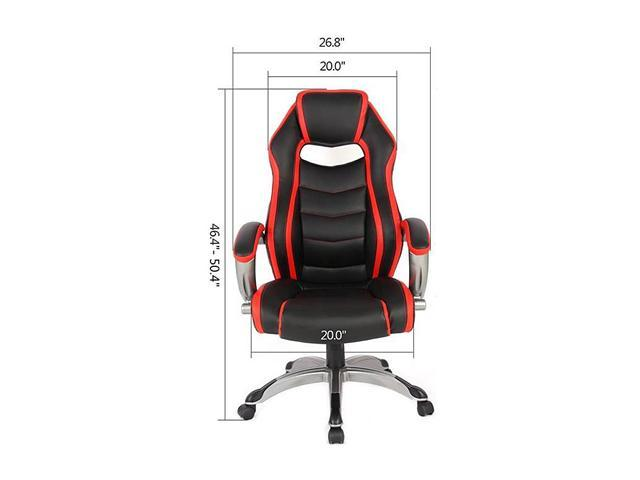 Pleasing Inland 05165A Racing Style High Back Ergonomic Gaming Chair Andrewgaddart Wooden Chair Designs For Living Room Andrewgaddartcom