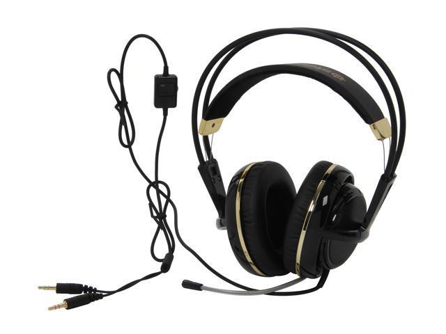 SteelSeries Siberia V2 Circumaural Full-Size Gaming Headset - Black and  Gold - Newegg com