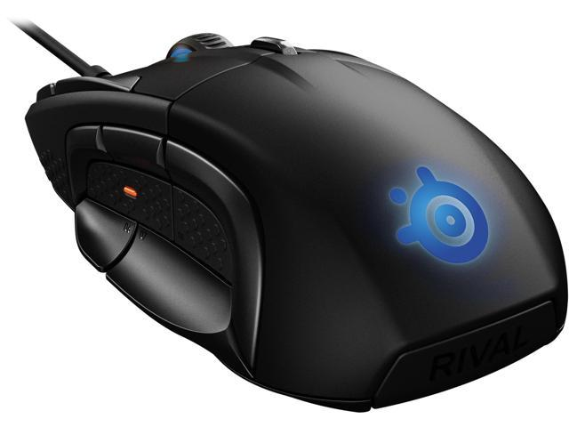 244727e1dd6 SteelSeries Rival 500 MOBA/MMO Gaming Mouse, 15 buttons, Tactile Alerts,  16000 CPI, Multicolor