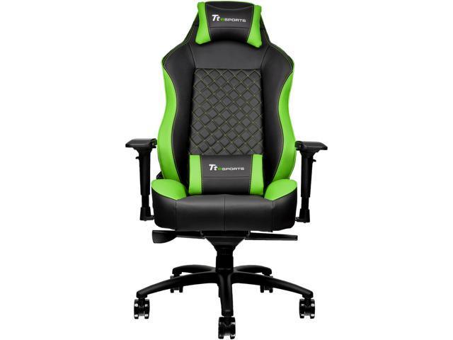 Tt eSPORTS GTC 500 (GC-GTC-BGLFDL-01) GTC 500 Gaming Chair Black & Green -  Newegg com