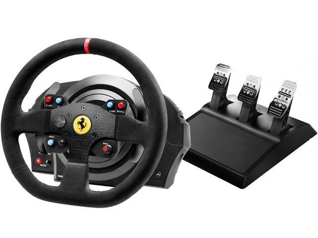 Thrustmaster T300 Ferrari Integral Rw Alcantara Edition Racing Wheel Ps5 Ps4 Newegg Com