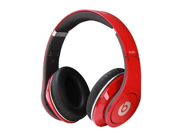 Beats By Dr Dre Red Studio 3 5mm Connector On Ear Powered