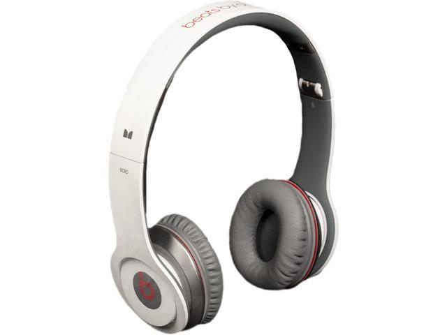Refurbished Beats White Solowiredwhite Beats Solo Wired On Ear Headphones Headphones Accessories Newegg Com