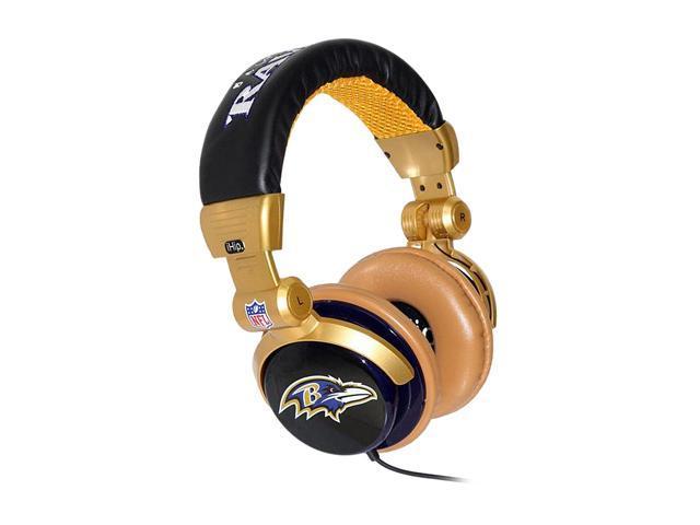 e7ed6379 IHIP NFL Baltimore Ravens NFH22BAR 3.5mm Connector Circumaural DJ Style  Headphone - Newegg.com