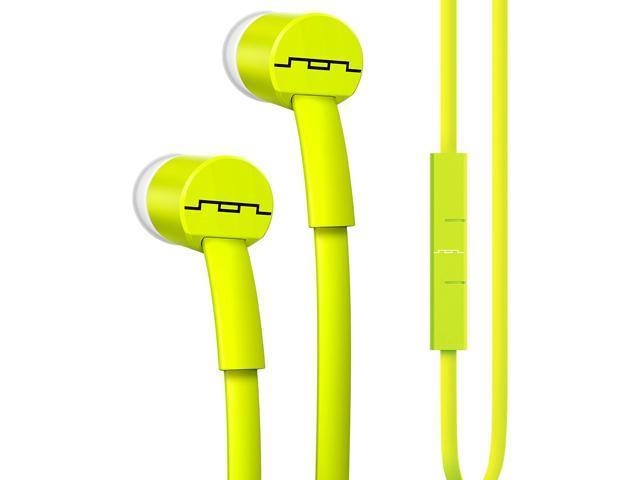 31b97fad64a Sol Republic Lemon Lime 1112-30 JAX In-Ear Headphones with 1-Button