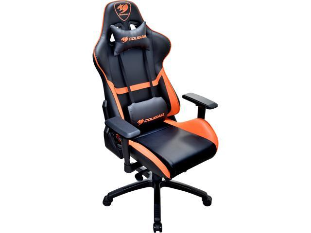 cougar armor orange gaming chair with breathable premium pvc leather and body embracing high. Black Bedroom Furniture Sets. Home Design Ideas