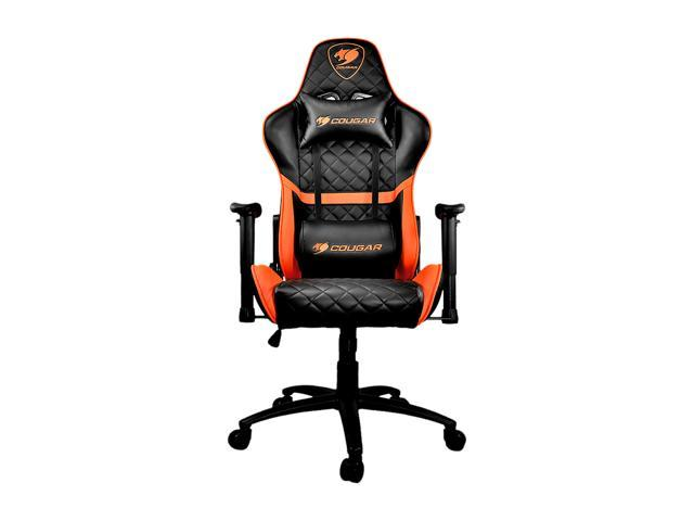 Outstanding Cougar Armor One Orange Gaming Chair With Breathable Premium Pvc Leather And Body Embracing High Back Design Machost Co Dining Chair Design Ideas Machostcouk