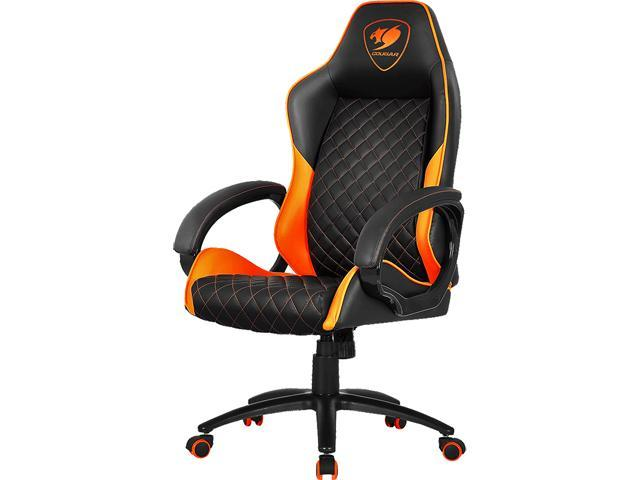 Astonishing Cougar Fusion Orange High Comfort Gaming Chair Lamtechconsult Wood Chair Design Ideas Lamtechconsultcom