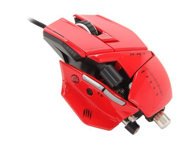 Used - Like New: Mad Catz R A T 7 Gaming Mouse for PC and Mac - Red -  Newegg com