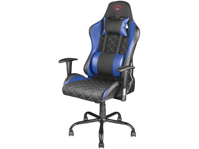 Marvelous Trust Gxt 707B Resto Gaming Chair Blue Ergonomic Pdpeps Interior Chair Design Pdpepsorg