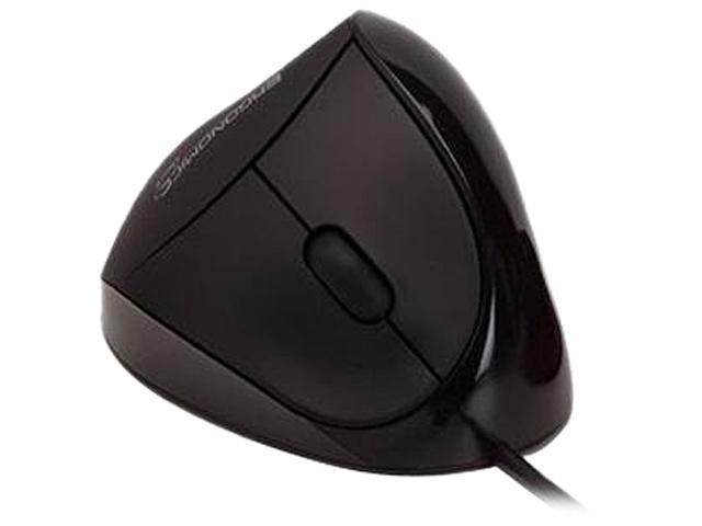 3f22f012e20 Ergoguys Comfi Ergonomic Mouse EM011-BK Black 5 Buttons 1 x Wheel USB Wired  Optical