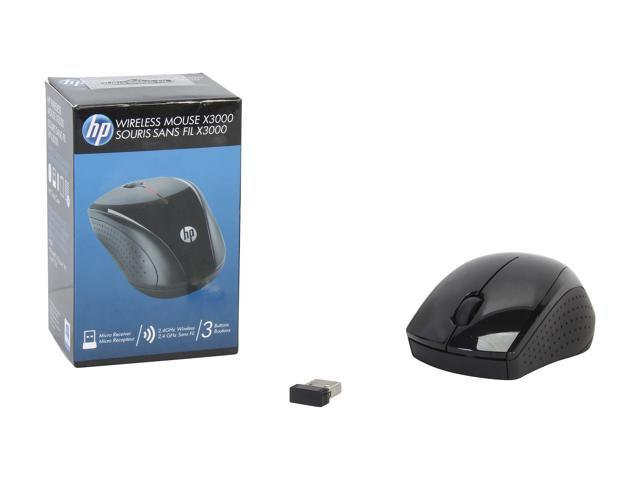 HP X3000 H2C22AA#ABL Black RF Wireless Optical Mouse - Newegg com