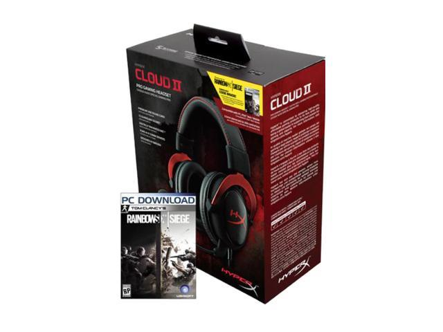 HyperX Cloud II Gaming Headset with 7 1 Virtual Surround Sound - Red -  Rainbow Six Siege Edition - Newegg com