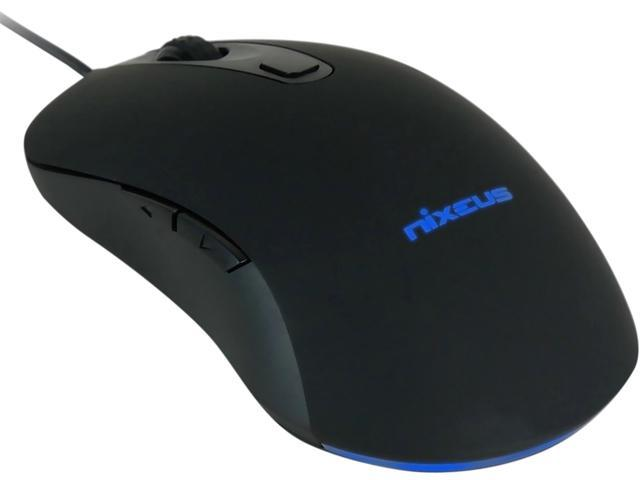 Nixeus REVEL REV-BK16 Black 6 Buttons Wired Optical 12000 dpi Gaming Mouse