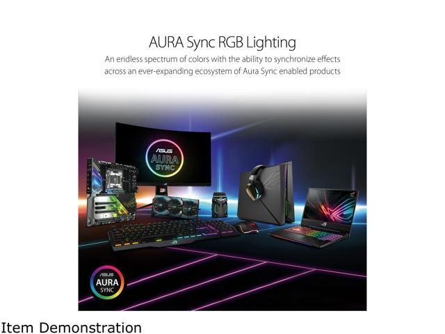 Open Box: ASUS ROG Aura Terminal Addressable RGB Controller with  Four-ports, Three Magnetic LED Strips, Halo and AURA Sync RGB Software -  Newegg com