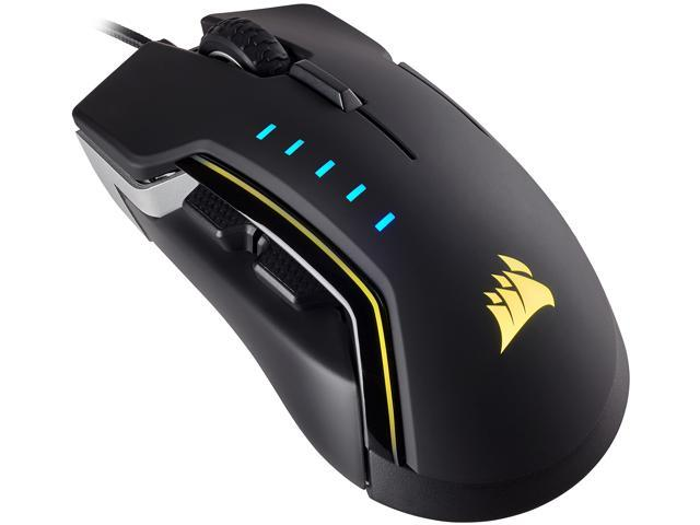 Corsair Gaming GLAIVE RGB Gaming Mouse, Backlit RGB LED, 16000 dpi,  Optical, Aluminum - Newegg com