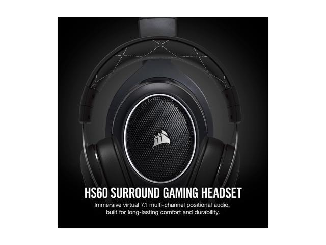 Corsair HS60 Surround Stereo Gaming Headset with 7 1 Surround Sound - White  - Newegg com