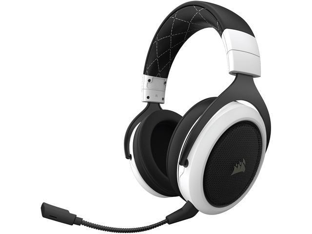Corsair Hs70 Wireless Gaming Headset With 7 1 Surround Sound White Newegg Com