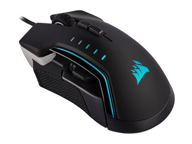 CORSAIR Glaive RGB Ergonomic Gaming Mouse 16,000 DPI Brand New /& Sealed!!!