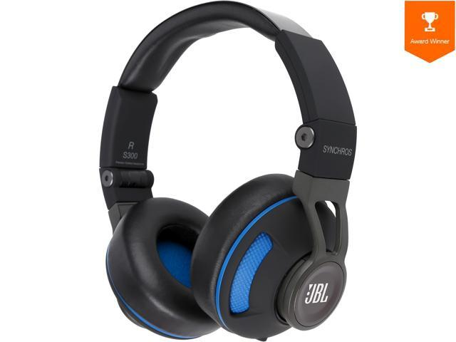 3e91db05375 JBL Synchros S300 Premium On-Ear Headphones for iOS with built-in remote/ Microphone - Black/Blue